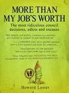 More Than My Job's Worth (eBook)