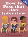 How to Pass that Job Interview (eBook)