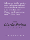 The Charles Dickens Miscellany (eBook)