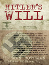 Hitler's Will (eBook)