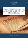 Constitutionalism and the Rule of Law in America (eBook)