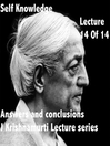 J Krishnamurti Lectures Series Ojai, Volume 14 (MP3)
