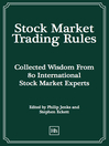 Stock Market Trading Rules (eBook): Collected Wisdom From 80 International Stock Market Experts