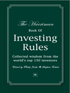 The Harriman Book of Investing Rules (eBook): Collected Wisdom from the World's Top 150 Investors