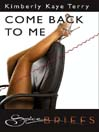 Come Back To Me (eBook)