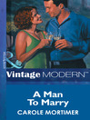 A Man to Marry (eBook)