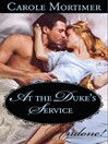 At the Duke's Service (eBook)