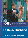 To Be a Husband (eBook)