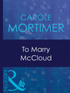 To Marry McCloud (eBook)