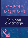 To Mend a Marriage (eBook)