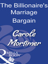 The Billionaire's Marriage Bargain (eBook)