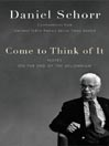 Come to Think of It eBook