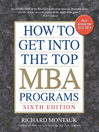 How to Get into the Top MBA Programs (eBook)