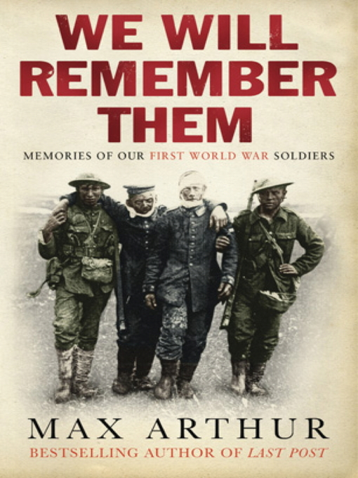 We Will Remember Them (eBook): Voices from the Aftermath of the Great War