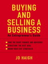 Buying and Selling a Business (eBook): An Entrepreneur's Guide