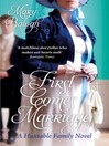 First Comes Marriage (eBook)
