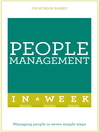Successful People Management in a Week (eBook): Teach Yourself