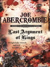 Last Argument Of Kings (eBook): The First Law: Book Three