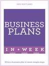 Successful Business Plans in a Week (eBook): In A Week