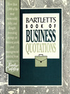 Bartlett's Book of Business Quotations (eBook)