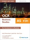 OCR AS Business Studies Student Unit Guide (eBook): Unit F291 An Introduction to Business