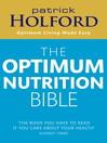 The Optimum Nutrition Bible (eBook)