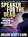 Speaker for the Dead (eBook): Ender Wiggin Series, Book 2