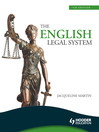 The English Legal System eBook ePub (eBook)