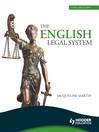 The English Legal System eBook ePub (eBook)