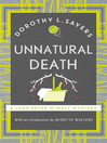 Unnatural Death (eBook): Lord Peter Wimsey Series, Book 3
