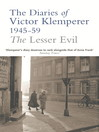 The Lesser Evil (eBook): The Diaries of Victor Klemperer 1945-1959
