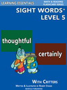 Sight Words Plus Level 5 (eBook): Flash Cards with Critters for Grade 3 & Up
