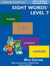 Sight Words Plus Level 7 (eBook): Sight Words Flash Cards with Critters for Grade 3 & Up
