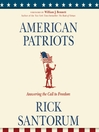 American Patriots (MP3): Answering the Call to Freedom
