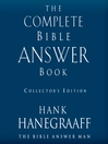 The Complete Bible Answer Book (MP3): Collector's Edition