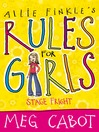 Stage Fright (eBook): Allie Finkle's Rules for Girls Series, Book 4