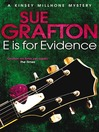 """E"" is for Evidence (eBook): Kinsey Millhone Series, Book 5"