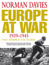 Europe at War 1939-1945 (eBook): No Simple Victory