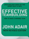 Effective Teambuilding (eBook): How to Make a Winning Team