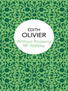 Without Knowing Mr Walkley (eBook)