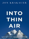 Into Thin Air (eBook): A personal account of the Everest disaster