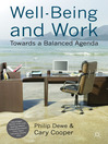 Well-Being and Work (eBook): Towards a Balanced Agenda