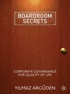Boardroom Secrets (eBook): Corporate Governance for Quality of Life