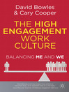 The High Engagement Work Culture (eBook): Balancing Me and We