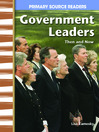 Government Leaders Then and Now (MP3)