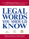 Legal Words You Should Know (eBook): Over 1,000 Essential Terms to Understand Contracts, Wills, and the Legal System