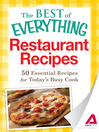 Restaurant Recipes (eBook): 50 Essential Recipes for Today's Busy Cook