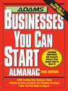 Adams Businesses You Can Start Almanac (eBook)