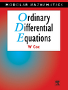 Ordinary Differential Equations (eBook)