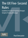 The UX Five-Second Rules (eBook): Guidelines for User Experience Design's Simplest Testing Technique